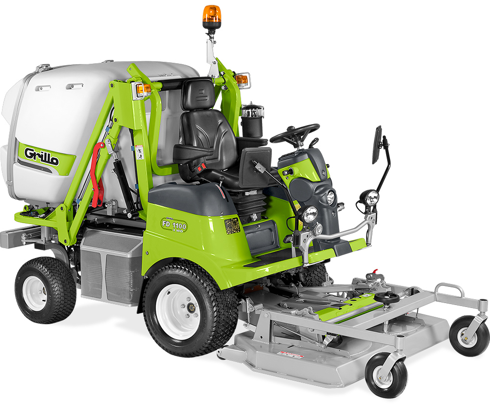 Fd 1100 4wd grillo spa agrigarden machines - Tondeuse autoportee coupe frontale avec ramassage ...
